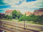 Retro look Aarhus station — Stock Photo