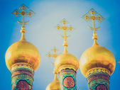 Retro look Dormition Cathedral Moscow — Stock Photo