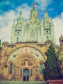 Retro mira sagrat cor barcelona — Foto de Stock