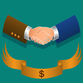 Handshake of businessmen — Stock Vector