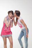 Teenagers are gossiping — Stock Photo