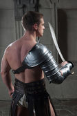 Gladiator from behind — Stock Photo