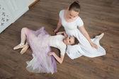 Two beautiful ballet dancers posing — Stock Photo