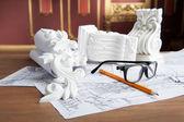 Interior designer items — Stock Photo