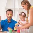 Funny adorable family paining — Stock Photo #50937859