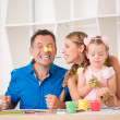 Funny adorable family paining — Stock Photo #50937901