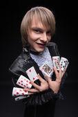 完善掌握的魔术师 — 图库照片