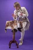 Consumada mestria de mágico — Fotografia Stock