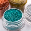 Close-up view of  powder eyeshadows  in different colours isolat — Stock Photo #51691051