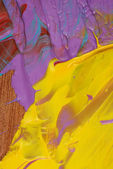 抽象的丙烯酸漆成五彩的特写背景 — 图库照片
