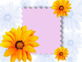 Frame with flowers for text — Stock Photo