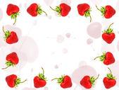 Cornice di fragole — Foto Stock