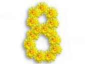 Number eight from flowers — Stock Photo
