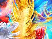 Бумага перья, фон — Стоковое фото