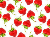 Seamless background with strawberries — Stock Photo