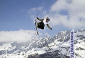Freestyle lyže — Stock fotografie