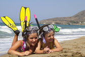 Snorkelers — Stock Photo