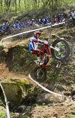Motocross jump — Stock Photo