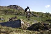 Fiets-stap-springen — Stockfoto