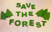 Save the forests — Stock Photo