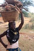 Africká žena非洲的女人 — Stock fotografie