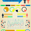 Infographics Elements Set Man and Woman - retro vector — Stock Vector #45840371