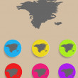 Alaska Map - icon isolated. Vector — Wektor stockowy