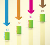 Different Way Infographics Set. Vector — Stock Vector