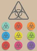 Warning symbol biohazard vector — Stock Vector