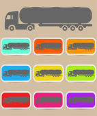 Icon trucks with tanks. Vector — Stock Vector