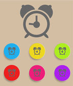 Alarm clock icon with color variations, vector — Stock Vector