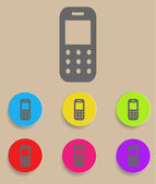 Mobile phone. Vector icon with color variations — Stock Vector