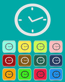 Watch. Vector clock icon in flat style — Stock Vector