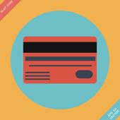 Bank credit cards - vector illustration. Flat design element — Stock Vector