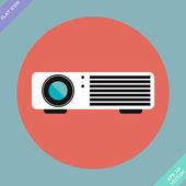 кинопроектор - векторные иллюстрации. плоский дизайн элемент — Cтоковый вектор