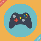 Computer Video Game Controller Joystick - vector illustration. — Stock Vector