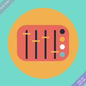 Mixing console faders - vector illustration. Flat design element — Stock Vector