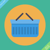 Shopping basket icon - vector illustration. Flat design element — Stock Vector