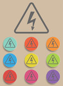 High Voltage Sign - Vector — Stock Vector