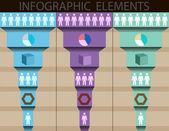 Infographics element. Retro style. Vector — Stock Vector
