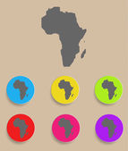 Africa Map - icon isolated. Vector — Stock Vector