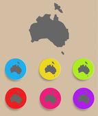 Australia Map - icon isolated. Vector — Stock Vector