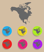 North America Map - icon isolated. Vector — Stock Vector