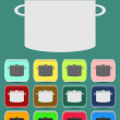 Cooking pan icon. Vector illustration — Stock Vector #49478879