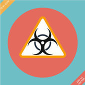 Warning symbol biohazard - vector illustration — Stock Vector