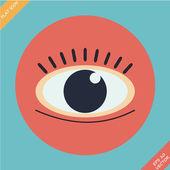 Eye icon - vector illustration. — Stockvektor