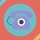 Old phone icon - vector illustration. — Stock Vector