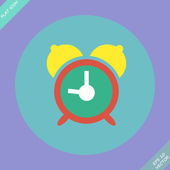 Alarm clock icon - vector illustration. — Stock Vector