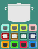 Cooking pan icon. Vector illustration — ストックベクタ