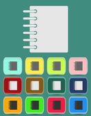 Ring binder calendar notepad - Vector icon — Stockvektor